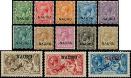 * NAURU - Poste - 1/14 (sauf 3), Très Frais, Le 14 Signé Brun - Nauru