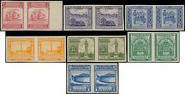 * PARAGUAY - Poste - 457/63, En Paires Non Dentelées, Complet (tirage 150): Sujets Divers 1946 - Paraguay