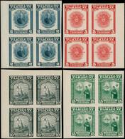 ** PARAGUAY - Poste - 469/72, Blocs De 4 Non Dentelés, Cdf (tirage 200), 2 Séries *: Assomption - Paraguay