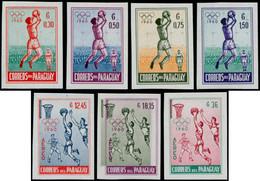 ** PARAGUAY - Poste - 572/75 + Pa. 254/6, Non Dentelés (tirage 1000): Jeux Olympiques De Rome 1960, Football Et Basket - Paraguay