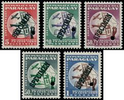 """** PARAGUAY - Poste Aérienne - 171/75, Surcharge Noire """"spécimen"""" + Perfo De Contrôle: 75ème An. UPU - Paraguay"""