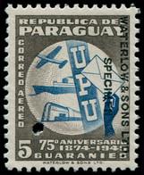 """** PARAGUAY - Poste Aérienne - 175, Avec Surcharge """"Waterlow"""" Et Perfo De Contrôle: 5c. 75ème An. UPU - Paraguay"""