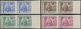 * PARAGUAY - Poste Aérienne - 189/92, En Paires Horizontales Non Dentelées, Bdf (tirage 200): Isabelle La Catholique - Paraguay