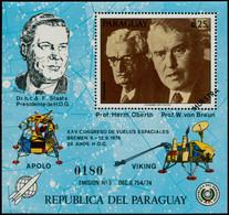 """** PARAGUAY - Blocs Feuillets - Michel 285, Surcharge """"Muestra"""" (spécimen): 25c. Von Braun - Paraguay"""