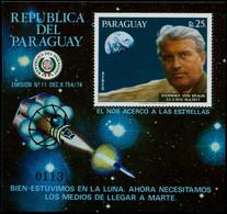 ** PARAGUAY - Blocs Feuillets - Michel 308, Numéroté: 25g. Von Braun, Fusée - Paraguay