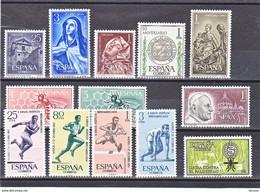 ESPAGNE 1962  Yvert  1093-1095 + 1119-1124 +  1133 + 1145-1147 NEUF** MNH Cote : 6,65 Euros - 1961-70 Nuovi
