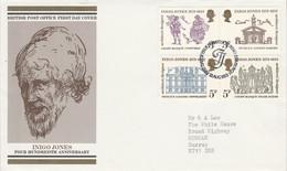 GB LETTRE FDC 1973 INIGO JONES - 1971-1980 Dezimalausgaben