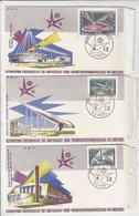 Belgium EXPO 58 - 6 Souvenir Covers FDC B211015 - 1951-60