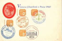 Czechoslovakia - Exhibition Of Philatelists Prague Autoposta Year 1940 - Briefe U. Dokumente