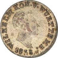 Monnaie, Etats Allemands, WURTTEMBERG, Wilhelm I, Kreuzer, 1838, Stuttgart - Sonstige