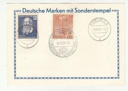 Deutsche Marken Mit Sonderstempel,  Hamburg Deutsches Turnfest 1953 Special Pmk B211015 - Briefe U. Dokumente