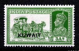 KUWAIT 1939  KGVI  3  Annas  MH - Kuwait