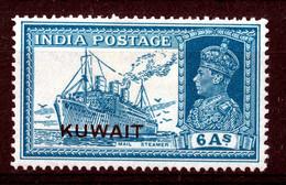 KUWAIT 1939  KGVI  6  Annas  MH - Kuwait