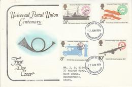 GB LETTRE FDC 1974 CENTENAIRE U P U - Covers & Documents