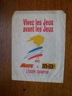 Sachet Papier Bonbons Mars Et M&Ms Jeux Olympiques 1992 - Sonstige