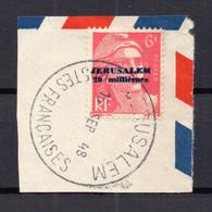 !!! JERUSALEM : N°3 OBLITERATION SUPERBE SUR FRAGMENT - Used Stamps