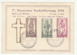 77. Deutscher Katholikentag 1956 Special Pmk Koeln B211015 - Briefe U. Dokumente