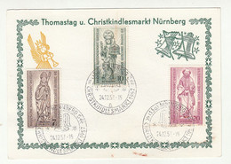 Thomastag U. Christkindlesmarkt Nuernberg 1957 Special Pmk B211015 - Briefe U. Dokumente