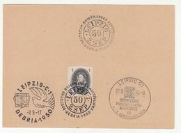 Deutscher Philatelisten-Kongress Leipzig 1950 Special Pmk B211015 - Briefe U. Dokumente