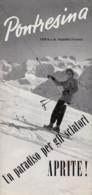 PONTRESINA Sports D'hiver  Vers 1950  Ski  / RARE - Dépliants Turistici