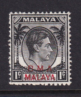 B.M.A. (Malaya): 1945/48   KGVI 'B.M.A.' OVPT   SG1b    1c     MH - Malaya (British Military Administration)