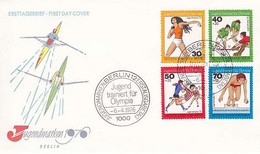 GERMANY BERLIN [1976] MiNr 0517-20 ( FDC ) Sport - FDC: Briefe
