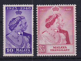 Malaya - Trengganu: 1948   Royal Silver Wedding      MH - Trengganu