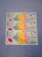ROMANIA-P111a 2000L 1999 UNC (3 Consecutivi) - Romania