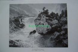 168 Kameke: Gorner Visp Zermatt Riesenbild 40x28 Cm Druck 1899!! - Stampe