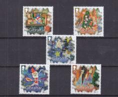 Noël - Gibraltar - Yvert 1653 / 7 ** - Valeur 9,70 Euros - Natale