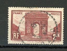 FRANCE - ARC DE TRIOMPHE - N° Yvert 258 Obli. CàD Perlé - Used Stamps