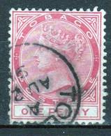 Tobago 1885 Victoria Single 1d Stamp From The Definitive Set In Fine Used - Trinidad & Tobago (...-1961)