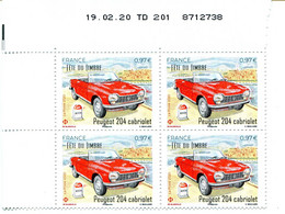 FRANCE 2020 NEUF N° 5390 FÊTE DU TIMBRE CABRIOLET PEUGEOT 204 COIN DATE 19.02.20 - 2010-....