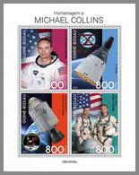 GUINEA BISSAU 2021 MNH Michael Collins Apollo 11 Gemini Space Raumfahrt Espace M/S - OFFICIAL ISSUE - DHQ2143 - Africa