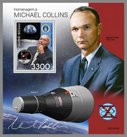 GUINEA BISSAU 2021 MNH Michael Collins Apollo 11 Gemini Space Raumfahrt Espace S/S - OFFICIAL ISSUE - DHQ2143 - Africa