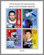 GUINEA BISSAU 2021 MNH Chinese Astronauts Chinesische Astronauten Astronautes Chinois M/S - IMPERFORATED - DHQ2143 - Africa