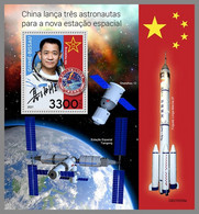 GUINEA BISSAU 2021 MNH Chinese Astronauts Chinesische Astronauten Astronautes Chinois S/S - IMPERFORATED - DHQ2143 - Africa