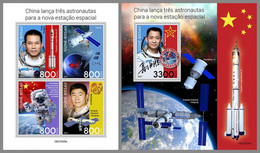 GUINEA BISSAU 2021 MNH Chinese Astronauts Chinesische Astronauten Astronautes Chinois M/S+S/S - IMPERFORATED - DHQ2143 - Africa