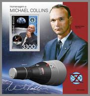 GUINEA BISSAU 2021 MNH Michael Collins Apollo 11 Gemini Space Raumfahrt Espace S/S - IMPERFORATED - DHQ2143 - Africa