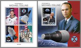 GUINEA BISSAU 2021 MNH Michael Collins Apollo 11 Gemini Space Raumfahrt Espace M/S+S/S - IMPERFORATED - DHQ2143 - Africa