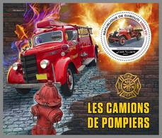 DJIBOUTI 2021 MNH Fire Engines Feuerwehr Fahrzeuge Camions De Pompiers S/S - OFFICIAL ISSUE - DHQ2143 - Firemen