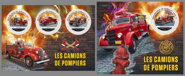 DJIBOUTI 2021 MNH Fire Engines Feuerwehr Fahrzeuge Camions De Pompiers M/S+S/S - OFFICIAL ISSUE - DHQ2143 - Firemen