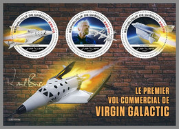 DJIBOUTI 2021 MNH Virgin Galactic Richard Branson Space Raumfahrt Espace M/S - OFFICIAL ISSUE - DHQ2143 - Africa