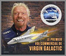 DJIBOUTI 2021 MNH Virgin Galactic Richard Branson Space Raumfahrt Espace S/S - OFFICIAL ISSUE - DHQ2143 - Africa