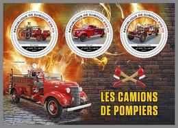 DJIBOUTI 2021 MNH Fire Engines Feuerwehr Fahrzeuge Camions De Pompiers M/S - IMPERFORATED - DHQ2143 - Firemen