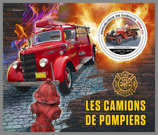 DJIBOUTI 2021 MNH Fire Engines Feuerwehr Fahrzeuge Camions De Pompiers S/S - IMPERFORATED - DHQ2143 - Firemen