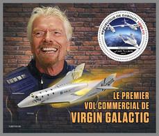DJIBOUTI 2021 MNH Virgin Galactic Richard Branson Space Raumfahrt Espace S/S - IMPERFORATED - DHQ2143 - Africa