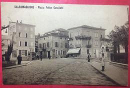 Salsomaggiore - Piazza Felice Cavalletti- 1913- Animée - Altre Città