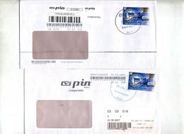 Lettre Poste Privée Pin Vignette Football Friedrich Berlin Cachet - Affrancature Meccaniche Rosse (EMA)