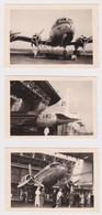 3 FOTO'S - SABENA - EVERE - 1949 - Autres